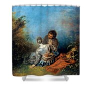 Watteau: False Step, C1717 Shower Curtain