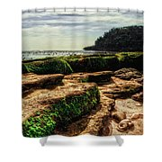Watu Leter Beach Shower Curtain