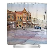 Waupaca - Main Street Shower Curtain