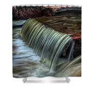 Wausau Whitewater Course Through Granite Shower Curtain