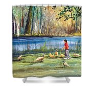 Wautoma Mill Pond Shower Curtain