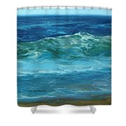Wave Action Detail Shower Curtain