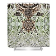 Wave And Jewels Shower Curtain