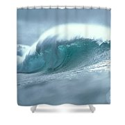 Wave And Spray Shower Curtain
