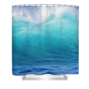 Wave And Windspray Shower Curtain by Vince Cavataio - Printscapes