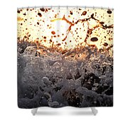 Wave Approaching Shower Curtain