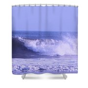 Wave At Jersey Shore Shower Curtain