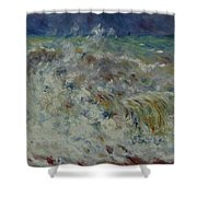 Wave At Sea Shower Curtain