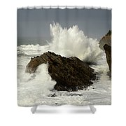 Wave At Shore Acres 2 Shower Curtain