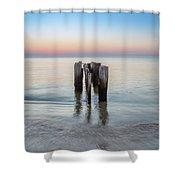 Wave Break At Sunrise. Shower Curtain