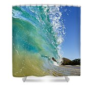 Wave Breaking At Makena Shower Curtain
