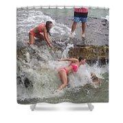 Wave Crasher Shower Curtain