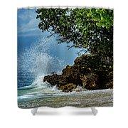 Wave Crashing Punta Cana Shower Curtain
