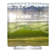 Wave Glass  Shower Curtain
