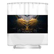 Wave Heart Shower Curtain