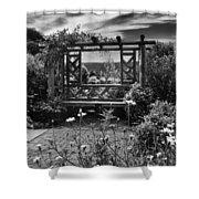 Wave Hill Garden Shower Curtain