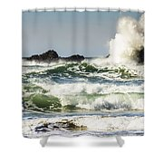 Wave Impact Shower Curtain