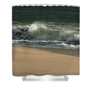 Wave Of Light - Jersey Shore Shower Curtain