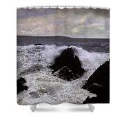 Wave Strike Point Lobos Shower Curtain