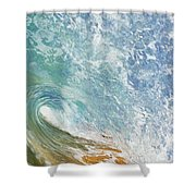 Wave Tube Along Shore Shower Curtain