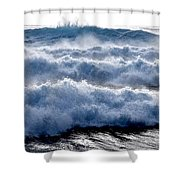 Wave Upon Wave Upon Wave Shower Curtain