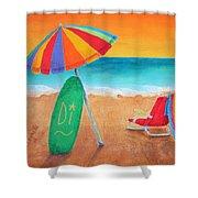 Wave Watch Shower Curtain