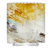 Wave Whitewash Shower Curtain