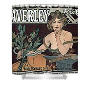 Waverley Cycles - Paris 1898 Shower Curtain