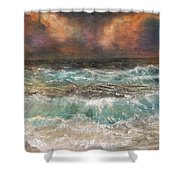 Waves 3  Shower Curtain