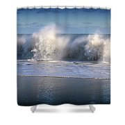 Waves Against The Wind Shower Curtain