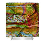 Waves And Patterns Shower Curtain