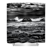 Waves At Dawn Shower Curtain