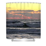 Waves At Dawn  5-3-15 Shower Curtain