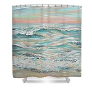 Waves At Dusk Shower Curtain
