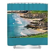 Waves Coming Ashore At Sybil Point Ireland  # 1 Shower Curtain
