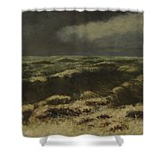 waves by Gustave Courbet Shower Curtain