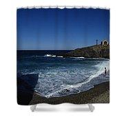 Waves Crash Onto The Beach Shower Curtain