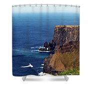 Waves Crashing At Cliffs Of Moher Ireland Shower Curtain