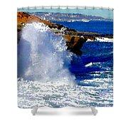 Waves Crashing On The Rocks Shower Curtain