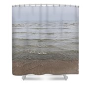 Waves In Fog Shower Curtain