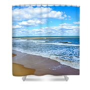 Waves Lapping On Beach 3 Shower Curtain