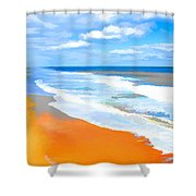 Waves Lapping On Beach 8 Shower Curtain