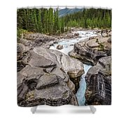 Waves Of ... Granite At Mistaya Canyon, Canada Shower Curtain