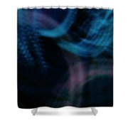 Waves Of Blue And Purple Shower Curtain