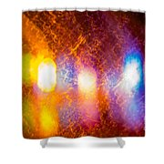 Waves Of Colour Shower Curtain