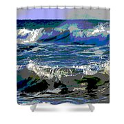 Waves Of Delight Shower Curtain