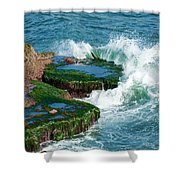 Waves Of La Jolla Shower Curtain