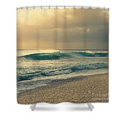 Waves Of Light - Hipster Photo Square Shower Curtain by Charmian Vistaunet
