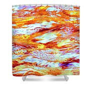 Waves Of Light Shower Curtain