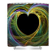 Waves Of Love - Romance Shower Curtain